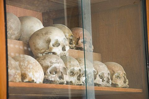 The Genocide Museum, a former school that Pol Pot used to torture, imprisonment and execution, Phnom Penh, Cambodia, Indochina, Southeast Asia, Asia
