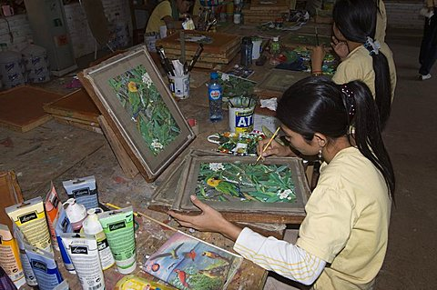 Craft school for the disabled, all here are deaf mutes, Siem Reap, Cambodia, Indochina, Southeast Asia, Asia