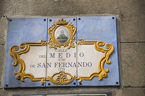 Street sign, Montevideo, Uruguay, South America