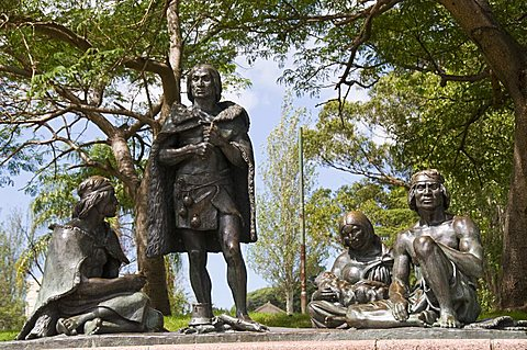 Statue of Carruas Indians, Montevideo, Uruguay, South America