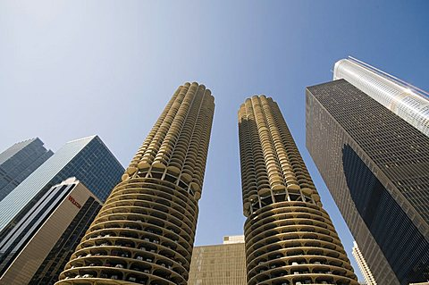 Marina Towers, the corn cobs, Chicago, Illinois, United States of America, North America