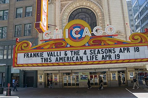 The Chicago Theater, Chicago, Illinois, United States of America, North America
