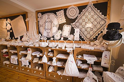 Irish linen and lace, Dingle, County Kerry, Munster, Republic of Ireland, Europe
