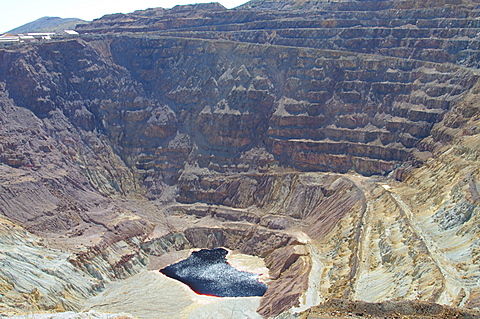 The Lavender open pit copper mine in Bisbee, Arizona, United States of America, North America
