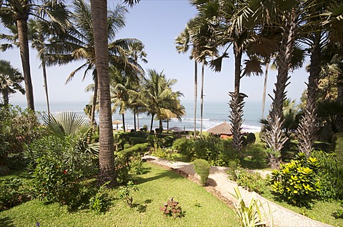 Ngala Lodge, situated between the resorts of Bakau and Fajara, near Banjul, Gambia, West Africa, Africa