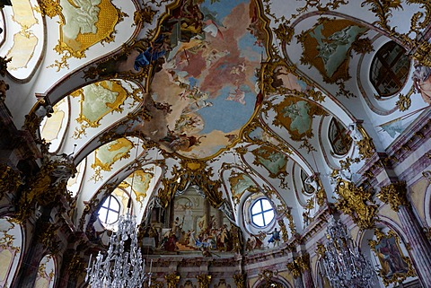 The imperial hall in the Residence Palace, UNESCO World Heritage Site, Wurzburg, Bavaria, Germany, Europe