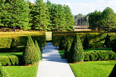 The grounds of The Mount, Edith Wharton's home, Lenox, The Berkshires, Massachusetts, New England, United States of America, North America