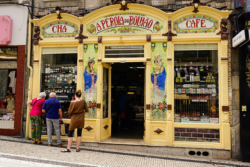 Highly decorated shop, Porto also know as Oporto, Portugal