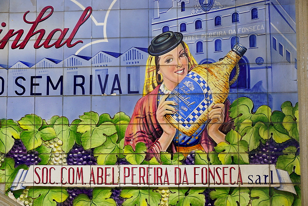 Advertising tiles, Porto, Portugal, Europe - 641-13428
