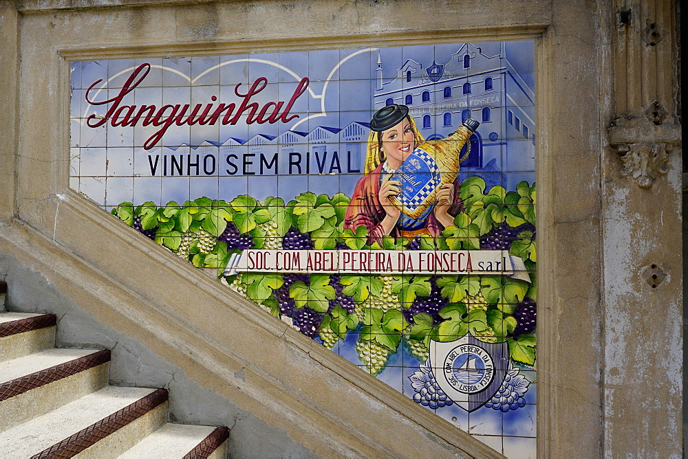 Advertising tiles, Porto, Portugal, Europe - 641-13429