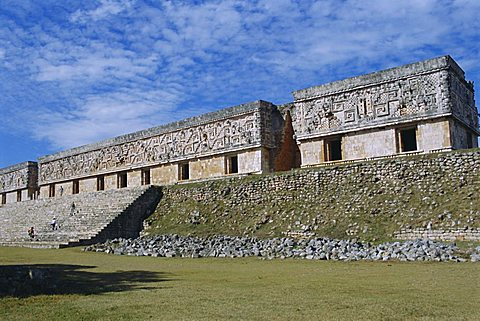 Governor's Palace at the Mayan site of Uxmal, Yucatan, Mexico, Central America