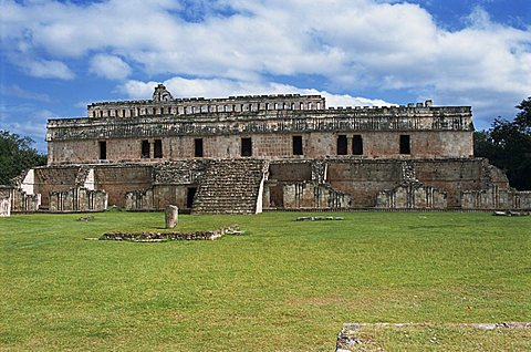 Puuc Mayan site of Kabah, the Palace Group (East Group), Kabah, near Uxmal, Yucatan, Mexico, North America