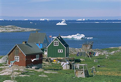 Settlement of Ilimanaq, formerly Claushavn, Greenland, Polar Regions