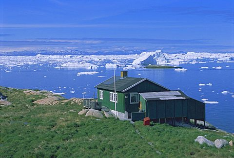 Settlement of Iliminaq, Disko Bay, Greenland, Polar Regions