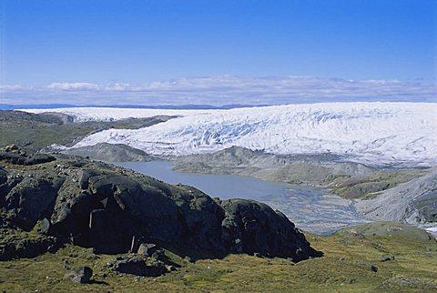 Inland icecap, Kangerlussuaq, Greenland, Polar Regions