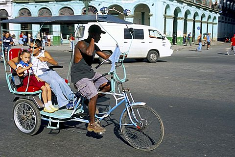 Cycle taxi, Havana, Cuba, West Indies, Central America