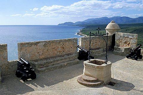 Castle of Morro (Castillo del Morro), Santiago de Cuba, Cuba, West Indies, Central America