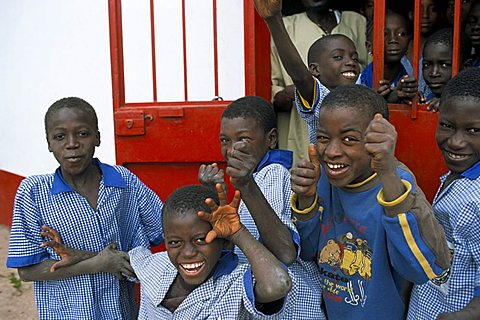 Children at Gambian school, The Gambia, West Africa, Africa