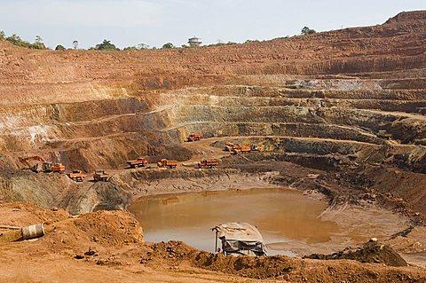 Open cast iron mine, Maharastra, India