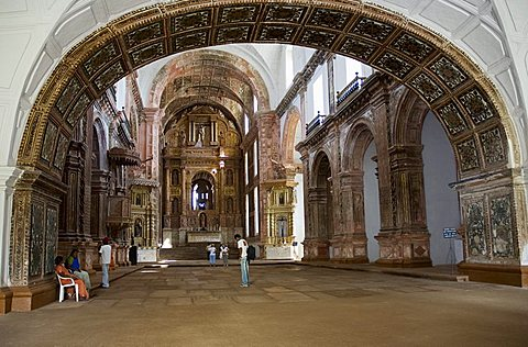 Interior of the Church of St. Francis of Assisi, built in 1521 and rebuilt  in 1661