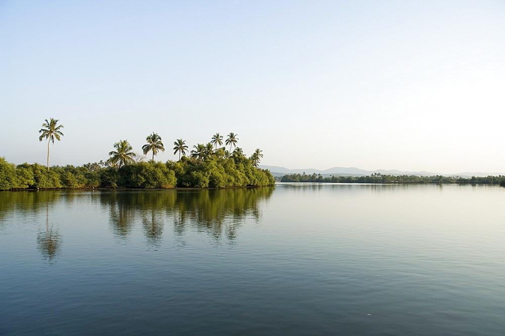 Backwater near Mobor, Goa, India