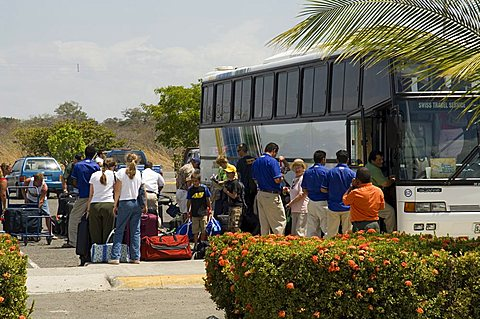 American tourists going home, Liberia Airport, Costa Rica, Central America