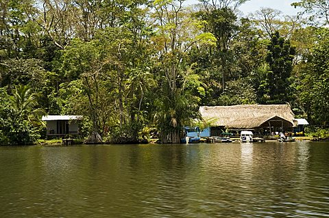 Local housing, Tortuguero National Park, Costa Rica, Central America