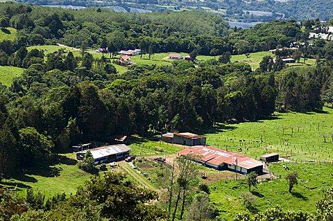 Farming on the slopes of the Poas Vocano, Costa Rica, Central America
