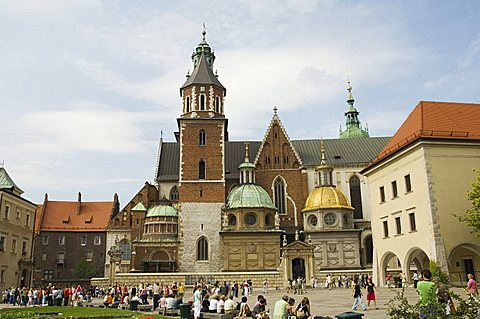 Wawel Cathedral, Royal Castle area, Krakow (Cracow), UNESCO World Heritage Site, Poland, Europe