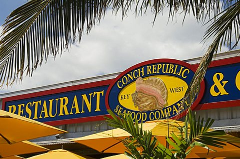 Conch Republic restaurant beside the marina, Key West, Florida, United States of America, North America
