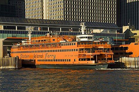 Staten Island Ferry, Business district, Lower Manhattan, New York City, New York, United States of America, North America - 641-6867