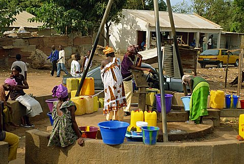 Communal well, near Banjul, Gambia, West Africa, AFrica