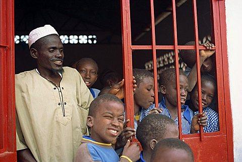 Village school, near Banjul, Gambia, West Africa, Africa
