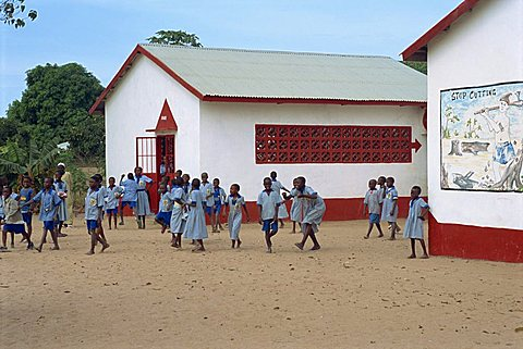 Village school near Banjul, Gambia, West Africa, Africa