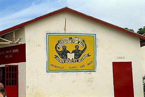 Village school near Banjul, Gambia, West Africa, Africa