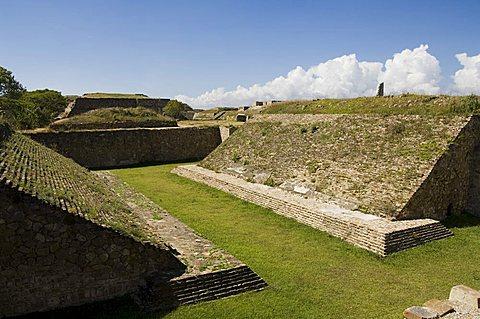 The ball court at the ancient Zapotec city of Monte Alban, UNESCO World Heritage Site, near Oaxaca City, Oaxaca, Mexico, North America