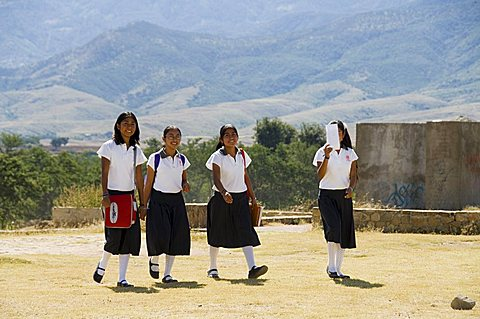 School children, Cuilapan, Oaxaca, Mexico, North America