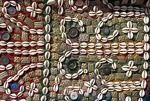 Cowries, beads and buttons, Cappadocia, Anatolia, Turkey, Asia Minor, Eurasia