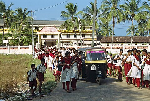 School children, Kerala state, India, Asia