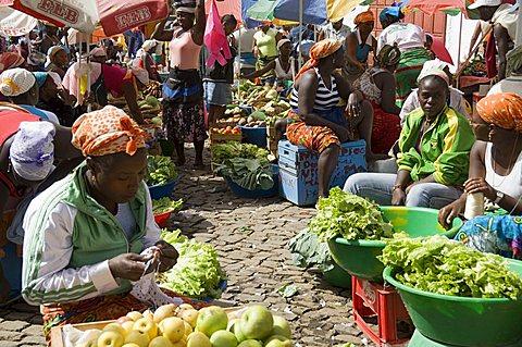 Municipal Market at Assomada, Santiago, Cape Verde Islands, Africa - 641-7586
