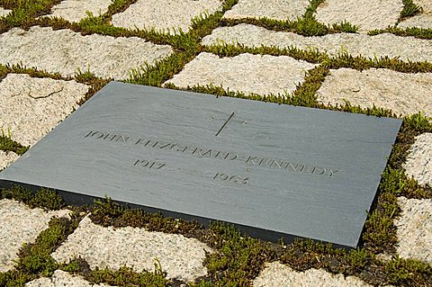 Tomb of John F. Kennedy at Arlington National Cemetery, Arlington, Virginia, United States of America, North America
