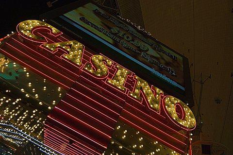 Fremont Street, the older part of Las Vegas, Nevada, United States of America, North America