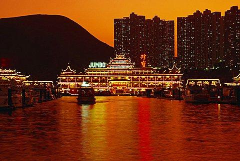 Floating restaurants at Aberdeen, Hong Kong, China, Asia - 645-2066
