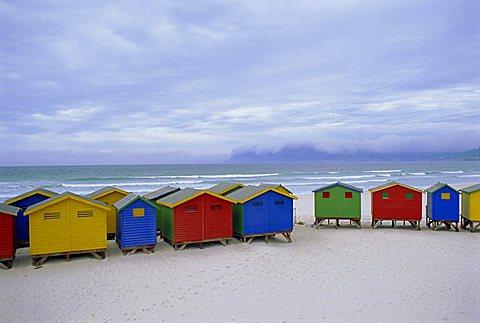 Beach huts, Muizenberg, near Cape Town, Cape Peninsula, South Africa - 645-3106