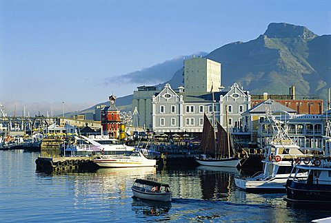 V & A Waterfront with Table Mountain, Cape Town, South Africa - 645-3158