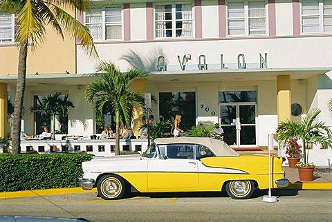 The Avalon Hotel, an Art Deco hotel on Ocean Drive, South Beach, Miami Beach, Florida, USA - 645-56