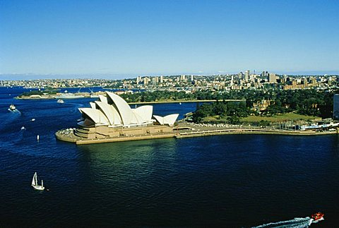Sydney Opera House and harbour, Sydney, New South Wales, Australia, Pacific - 645-667