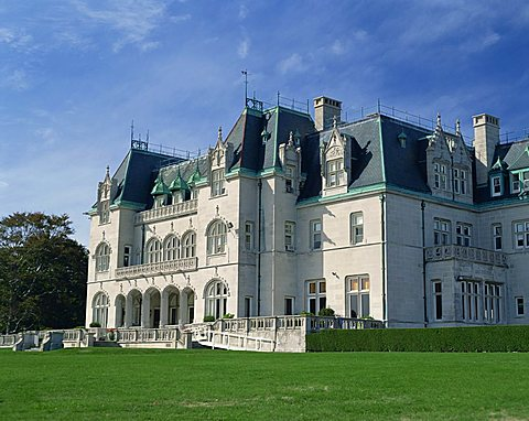 Exterior of the Marble House, built in 1892 for William K. Vanderbilt, Newport, Rhode Island, New England, United States of America, North America