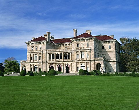 Exterior of the Breakers, large house built in 1895 for Cornelius Vanderbilt, Newport, Rhode Island, New England, United States of America, North America