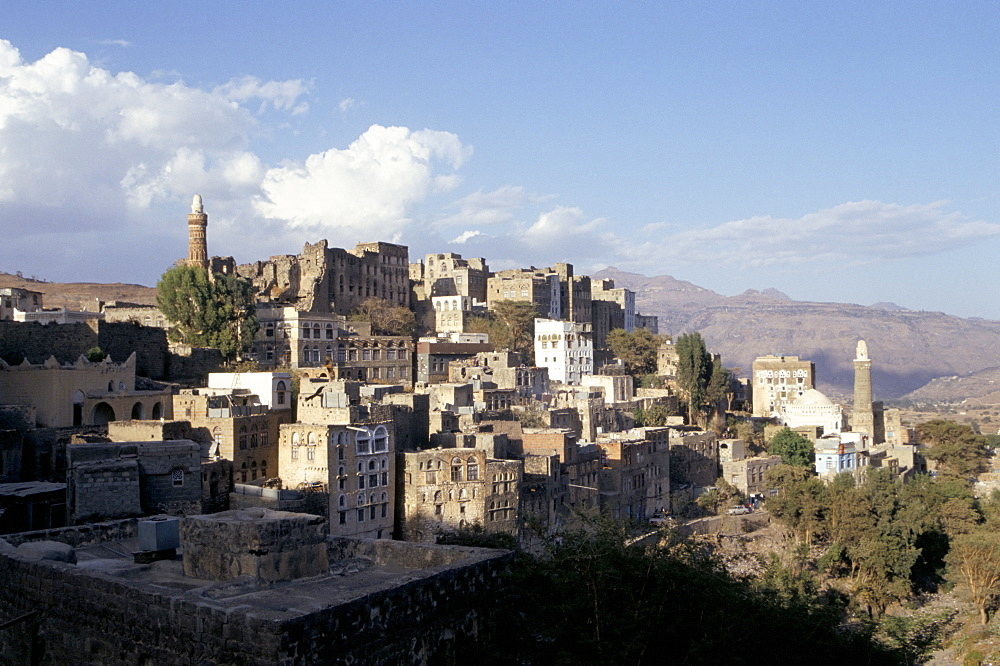 View of town, Manakhah, Yemen, Middle East - 657-558